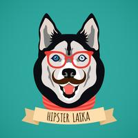 Hipster hundporträtt