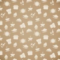 Nahtloser Restaurantmenü-Musterhintergrund vektor
