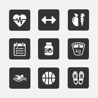 fitness ikoner vektor