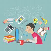 Mathematikstudentenkonzept vektor