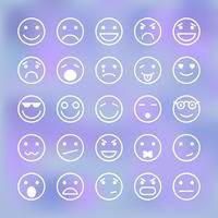 Ikoner uppsättning smiley ansikten för mobil applikationsgränssnitt vektor
