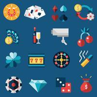 Casino ikoner Set