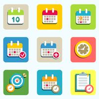 kalender och händelseikoner vektor