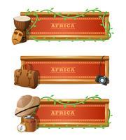 Afrikanischer Fahnensatz vektor