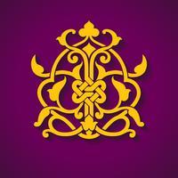 Abstrakt arabisk symbol vektor