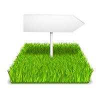 grön gräs pil vektor