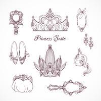 Prinsessans designelement vektor