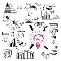 doodle infographics vektor