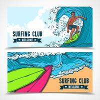 Surfa banners uppsättning