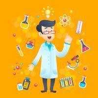 kemist vetenskapsman karaktär vektor