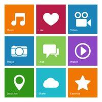 Social Media-Benutzeroberflächenelemente