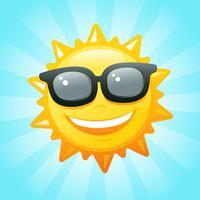 sol med solglasögon vektor