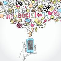 Mobile Smartphone-Social-Media-Anwendungen vektor