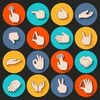 Hände Icons Set