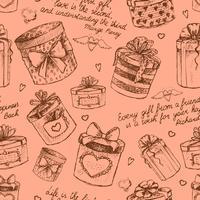 Nahtlose Geschenkboxen Muster vektor