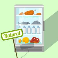 Natürliche Lebensmittel im Kühlschrank vektor
