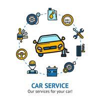 Bil Service Illustration
