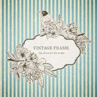 Romantische Vintage-Karte vektor