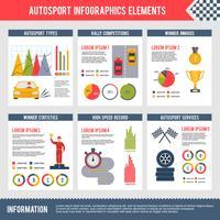 Auto Sport Infografiken