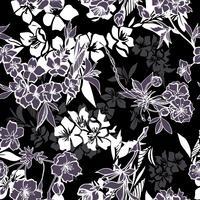 Nahtloses Muster mit blühender Kirsche oder Kirschblüte vektor