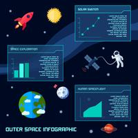 rymdinfografisk uppsättning