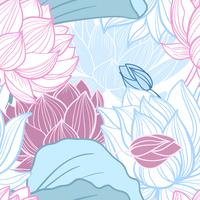 Lotus nahtlose Muster vektor