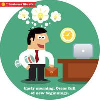Arbeitstag für Geschäftsinspirationen