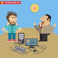 Boss bröt sin dator och missnöjde IT-nörd