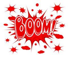 Boom-Explosionssymbol vektor