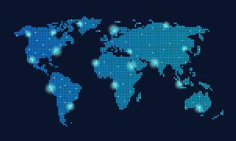Globales Technologie-Netzwerk vektor