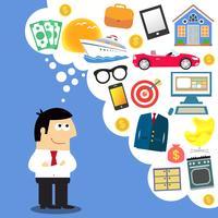 Affärsdrömmer, framtida planering vektor