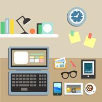 Set von Büroarbeitsplätzen