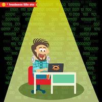 Programvarutekniker arbetar på sin anteckningsbok
