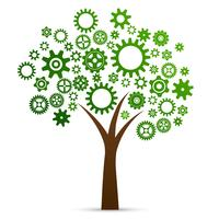 Industriellt innovations koncept träd