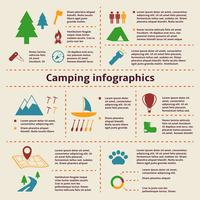 Camping och turism Infographic Elements