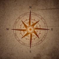 Retro Navigationskompass vektor