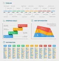Geschäft Infografiken Diagramme vektor