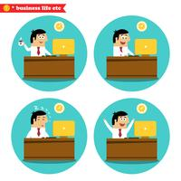 Büroangestellter am Schreibtisch