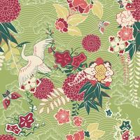 Orientaliskt silke mönster vektor