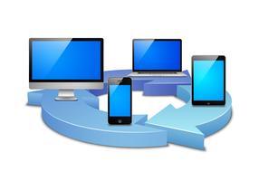 digitale Synchronisation vektor