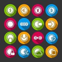 Samling av mynt för ekonomi eller pengar app