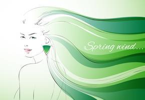 Wind des Frühlingshintergrundes