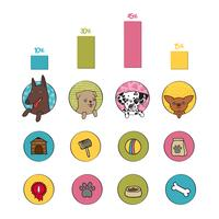 Hundar infographics element vektor