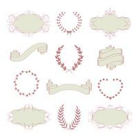 Bröllops grafisk samling vektor