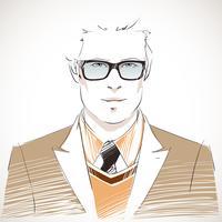 Hübsches junges Geschäftsmannportrait