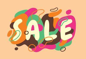 Försäljning typografi design