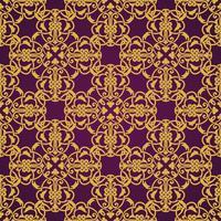 Nahtloses gelbes und violettes Muster im arabischen oder moslemischen Stil