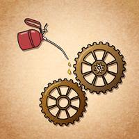 Smidigt snurrande kugghjul symbol