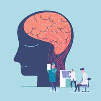 Psychische Gesundheit und Psychologie-Konzept vektor