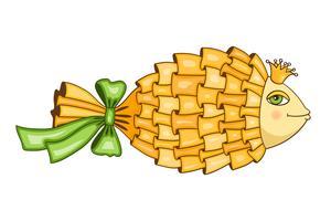 Guldfisk symbol vektor
